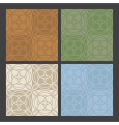 4 colors antique patterns vector