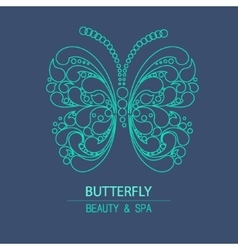 Outline logo butterfly vector