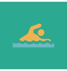 Swimming flat icon vector