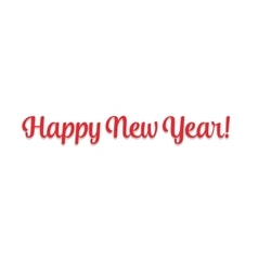 Merry christmas 2016 happy new year beautiful text vector