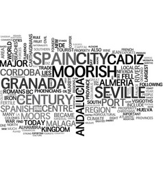 Andalucia white villages and flamenco text word vector