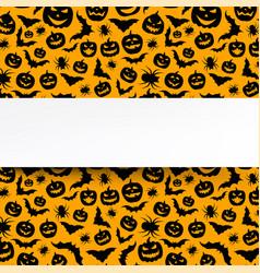 Background with orange halloween pattern vector