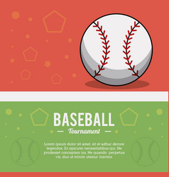 baseball ball sport tournament image vector image