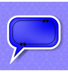 Blue Speech Bubble vector image vector image