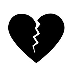 Broken cartoon heart icon image vector