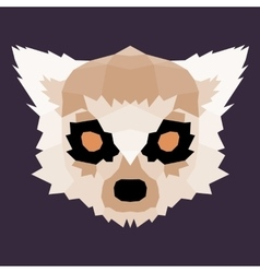 Brown low poly lemur vector
