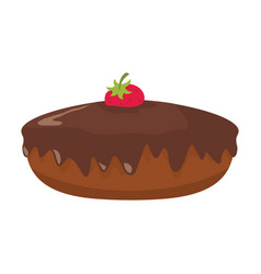 cake colorful bakery product icon vector image vector image
