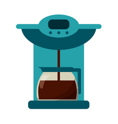 Coffee maker pot machine vector