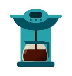 Coffee maker pot machine vector
