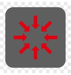 Collapse arrows rounded square button vector