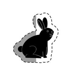 Cute rabbit mascot icon vector