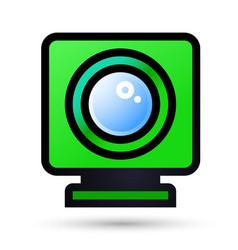 desktop web camera linear icon vector image vector image