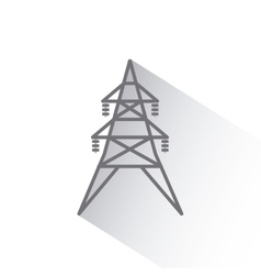 Energy tower icon vector