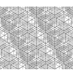 Futuristic abstract geometric seamless pattern vector