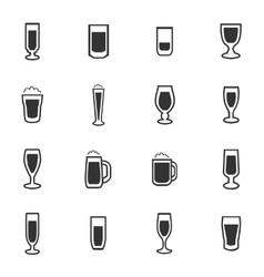 Glasses and cups icons set vector