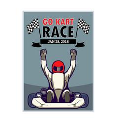 Go kart race poster vector