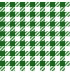 green lumberjack seamless pattern vector image vector image