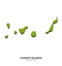 Isometric map of canary islands detailed vector