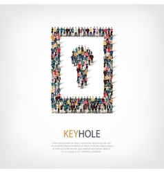 keyhole people crowd vector image