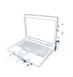 Laptop sketch vector