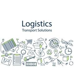 Logistics banner vector