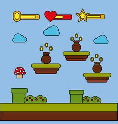 money bag icon video game level progress vector image