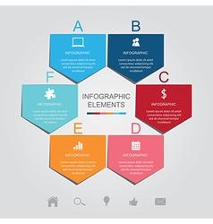 Pentagon infographic elements vector image