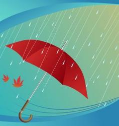 rain and umbrella vector image vector image