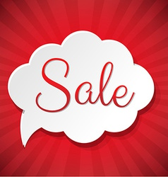 Sale Cloud vector image vector image