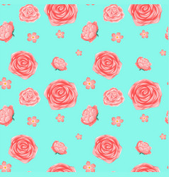 Seamless background template with pink roses vector