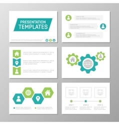 Set of green and turquoise template for vector