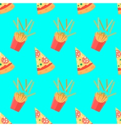 Set of pizza slices with different toppings french vector