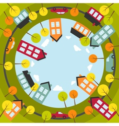 Small spherical town vector image vector image