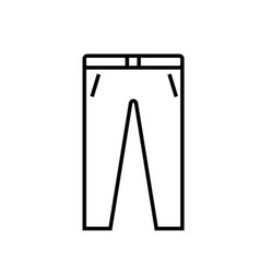 trousers icon vector image vector image