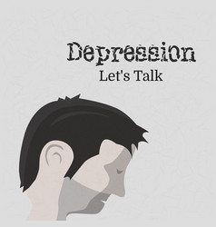 World health day on theme depression let s talk vector