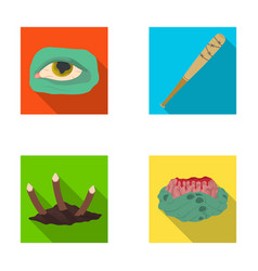 Zombie dead infected and other web icon in flat vector