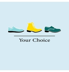Men fashion shoes to choose vector