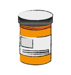 Isolated medicine jar design vector