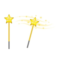 Star magic wand vector
