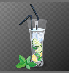 Refreshing drink vector