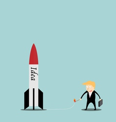 Businessmen are missiles ideas vector image