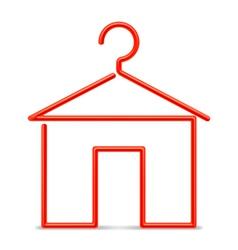 Red hanger vector image