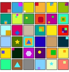 Abstract square color background vector
