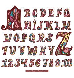 Fairy abc and numbers vector