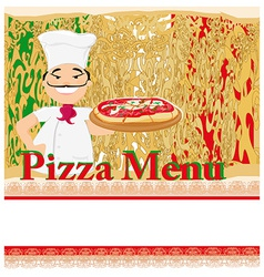 Pizza grunge poster vector image