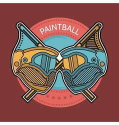 Colored of paintball emblem vector