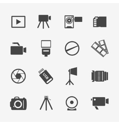 Camera and photo icons vector