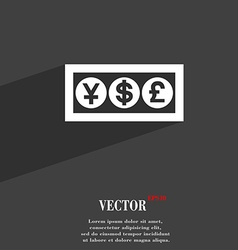 Cash currency icon symbol flat modern web design vector