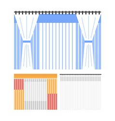 Flat colored curtains vector