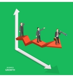 Business growth isometric concept vector